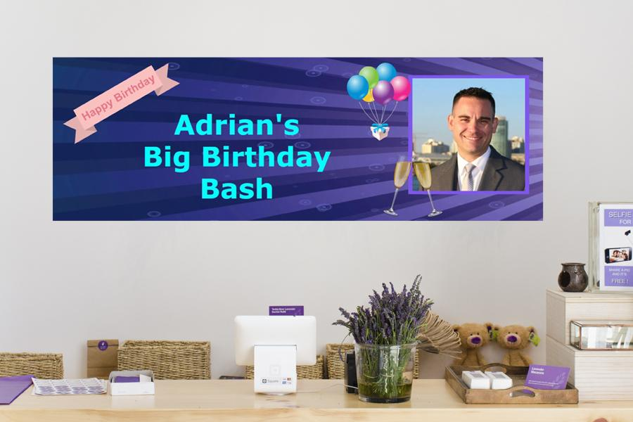 personalised birthday and party banners with photos