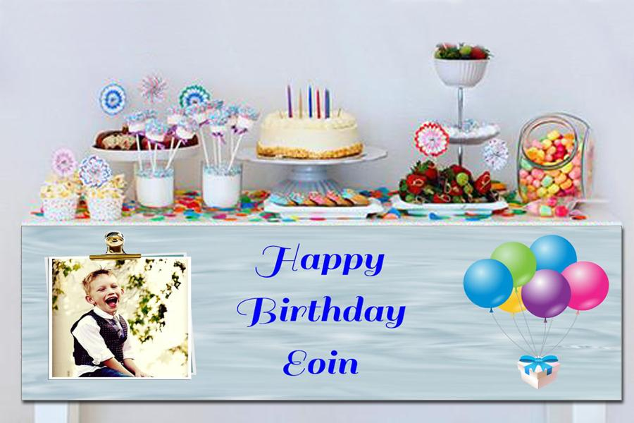 personalised party and birthday banners with photos