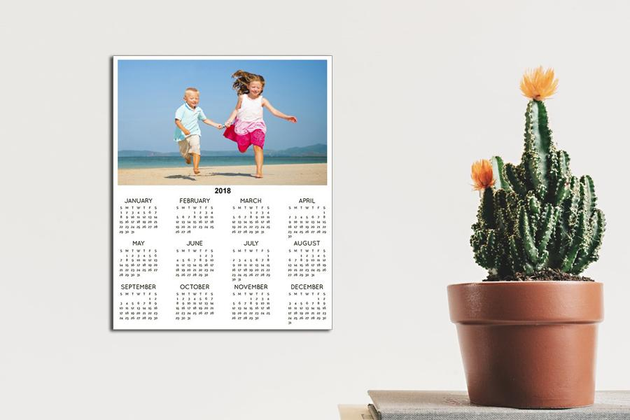 calendar with twelve months on one page