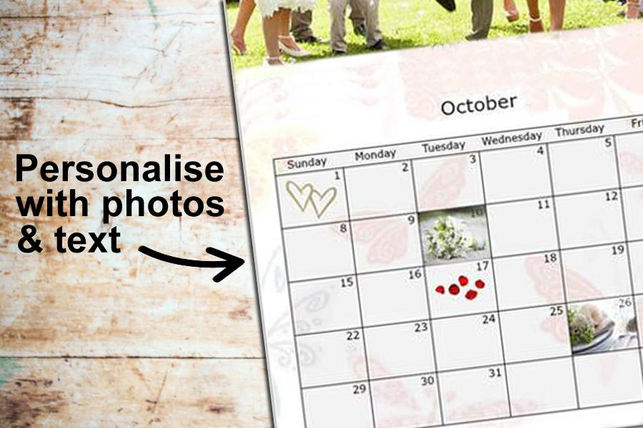 add personal photos and text to your calendar