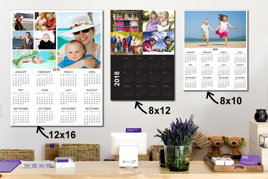 one page single calendars