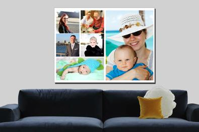 wall art collage canvas and photoblock and posters