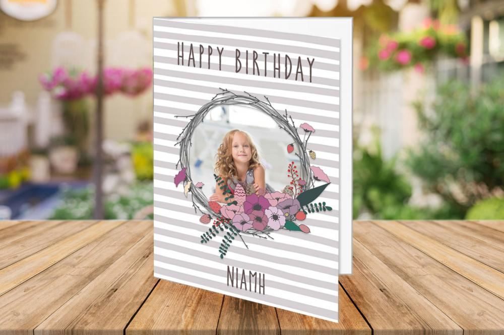 Photo Fast Personalised Cards Double Sided Folding Cards