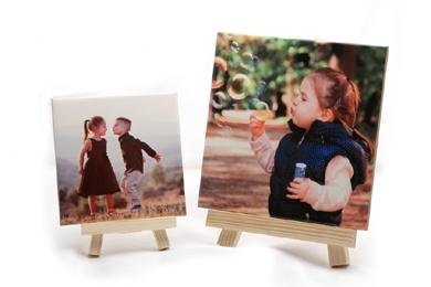 ceramic tile photo with mini easel