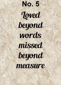 memorial charm verse 5