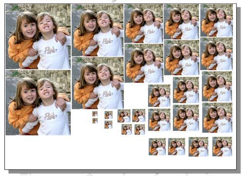 Fit a photo into a locket print looks like