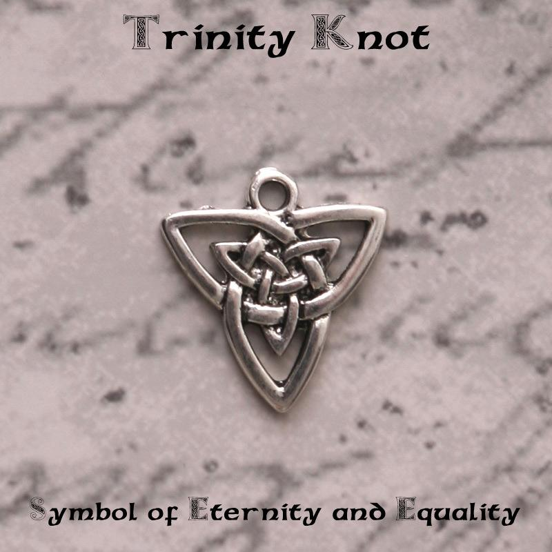 trinity knot meaning for your bridal wedding bouquet charm