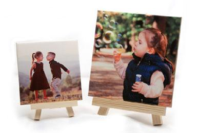 ceramic tile with photo and easel