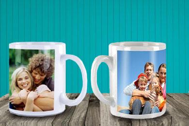 photo mug with your personal photo and message