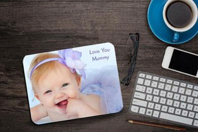 placemat with a photo for mother's day