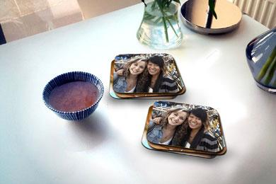 mother's day gift of photo coasters