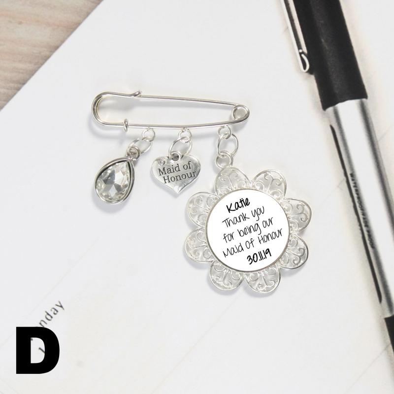 Maid Of Honour Thank You Gift Charm