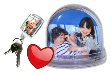 keyring and snow globe gifts